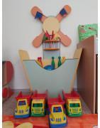 Уголки для спортинвентаря в детский сад